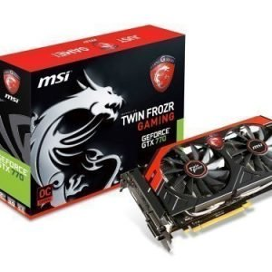 Videocard-PCI-Express-NVIDIA MSI GeForce GTX 770 OC 2GB DDR5 2xDVI HDMI DisplayPort PCIe