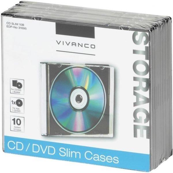 Vivanco Cd Slim Kotelo 10 Kpl