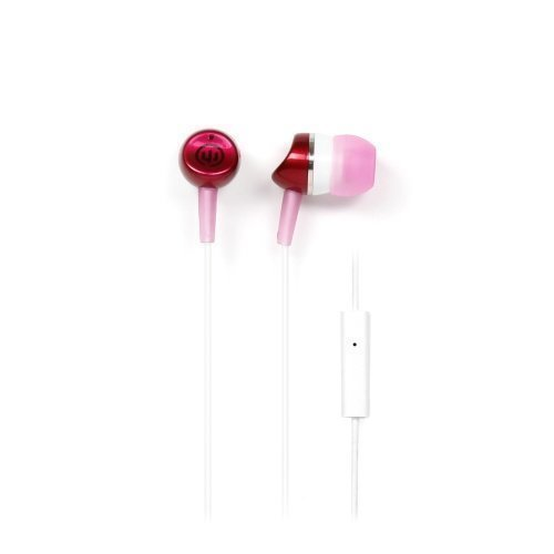 Wicked Audio Metallics In-Ear with Mic1 Pink / White