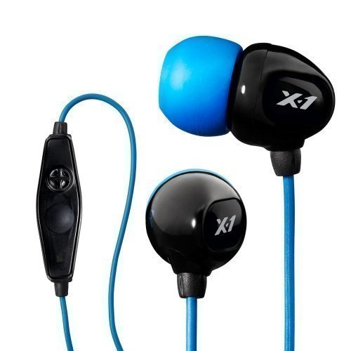 X-1 Audio Surge Contact Sport In-Ear with Mic1 Blue / Black