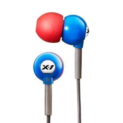 X-1 Audio Surge Flex Blue / Red In-ear Sport