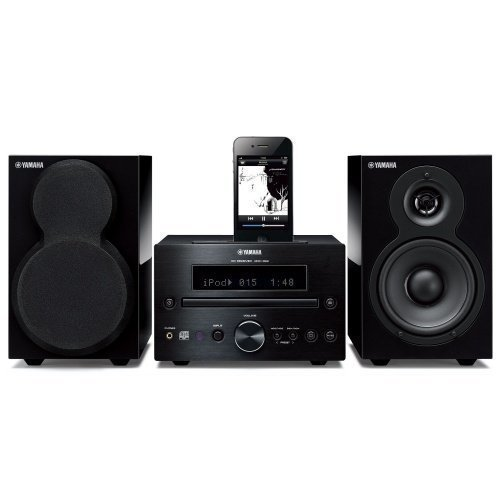 Yamaha MCR332BLPB Microsystem Black/Black iPod Docking