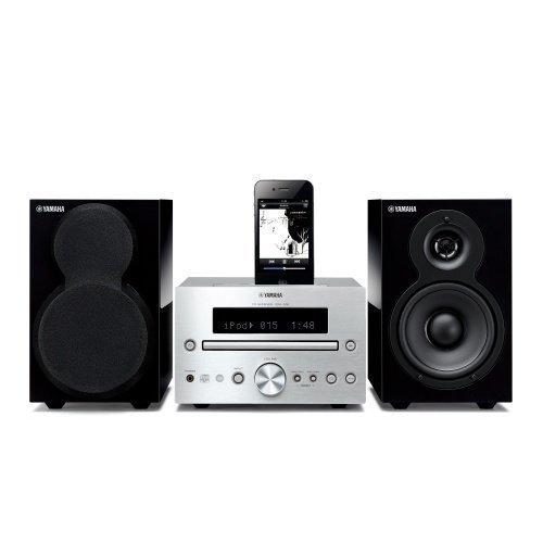 Yamaha MCR332SIPB Microsystem Silver/Black iPod Docking