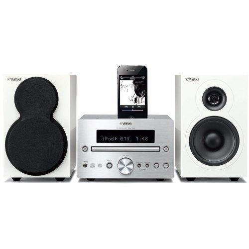 Yamaha MCR332SIWH Microsystem Silver/White iPod Docking