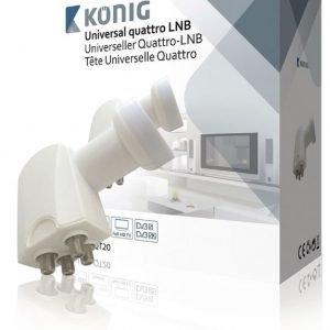 Yleiskäyttöinen Quattro-LNB (0 2 dB) monikytkimelle