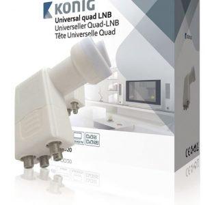 Yleiskäyttöinen neli-LNB (0 2 dB) neljälle TV:lle
