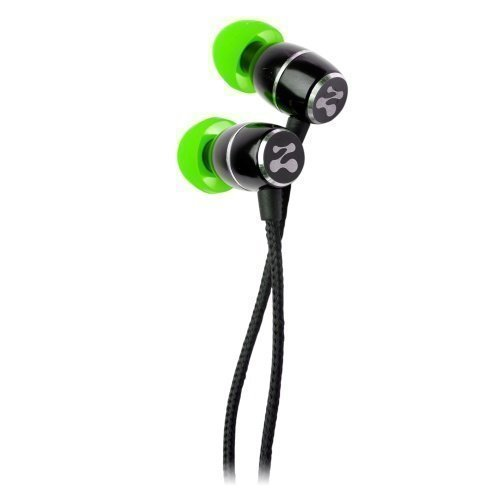 ZipBuds Fresh Black / Green In-ear