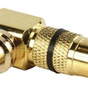adapteriiliitin RCA uros - tupla RCA naaras (kullattu) musta