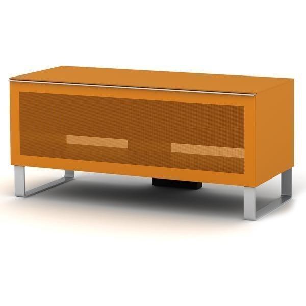 elmob Exclusive - Moderni mediataso lasinen etuosa 2 hyllyä oranss