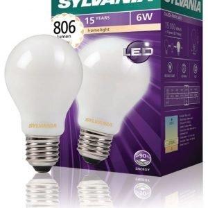 hehkulampen muotoinen Satin 806LM 827 LED-lamppu hehkulanka E27 6W
