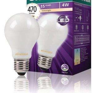 hehkulampun muotoinen Satin 470LM 827 LED-lamppu hehkulanka E27 4W