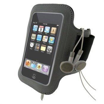 iGadgitz Jog Safe Neopreeni Käsivarsikotelo iPod Touch 2G 3G 4G Harmaa