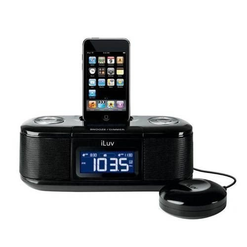 iLuv iMM153 iPod Alarm Clock Black iPod Docking