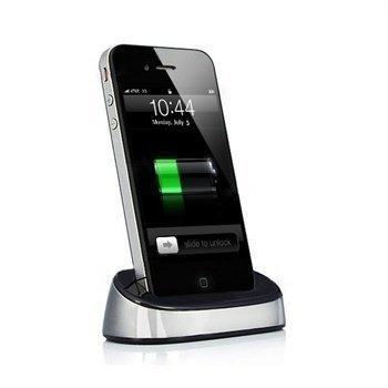 iPhone 4 iPhone 4S iPod Touch 4G iPod Nano 6G Pöytälaturi Hopea