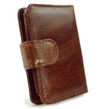 iPod Classic Tuff-Luv Vintage Wallet Nahkakotelo Ruskea