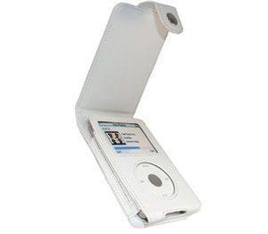 iPod Classic iGadgitz Leather Flip Case White