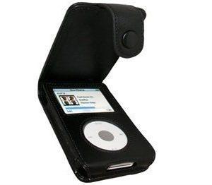 iPod Classic iGadgitz Nahkainen Läppäkotelo Musta