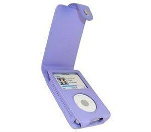 iPod Classic iGadgitz Nahkainen Läppäkotelo Violetti