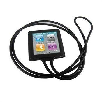 iPod Nano 6G Necklace Silikoni Kotelo Musta