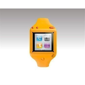 iPod Nano 6G SwitchEasy Ticker Wrist Band Watch Case Orange