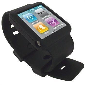 iPod Nano 6G iGadgitz Silikoninen Ranneke Musta