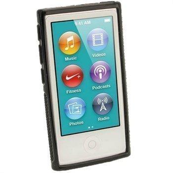 iPod Nano 7G iGadgitz Clip'N'Go TPU-Suojakotelo Musta