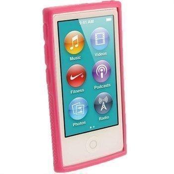 iPod Nano 7G iGadgitz Clip'N'Go TPU-Suojakotelo Pinkki