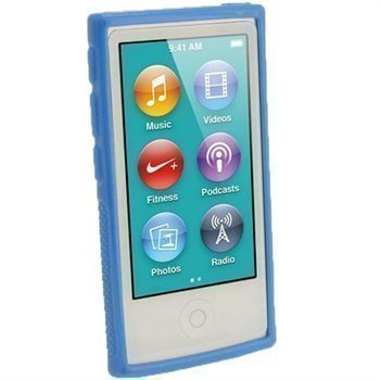 iPod Nano 7G iGadgitz Clip'N'Go TPU-Suojakotelo Sininen
