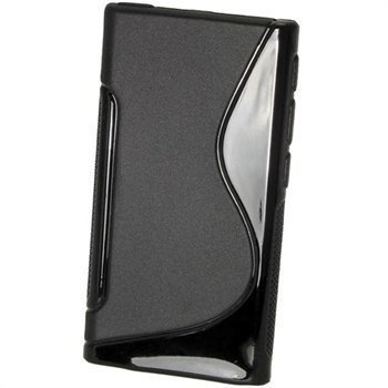 iPod Nano 7G iGadgitz Kaksivärinen TPU-Suojakotelo Musta