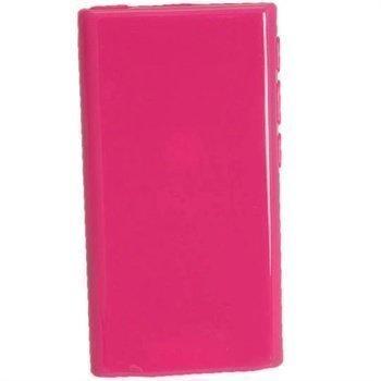 iPod Nano 7G iGadgitz Kiiltävä TPU-Suojakotelo Tumma Pinkki
