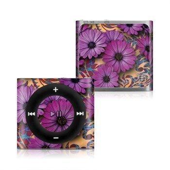 iPod Shuffle 4G Purple Daisy Damask Skin