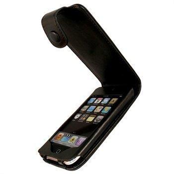 iPod Touch 2G Touch 3G iGadgitz Nahkainen Läppäkotelo Musta