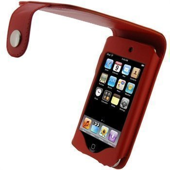 iPod Touch 2G Touch 3G iGadgitz Nahkainen Läppäkotelo Punainen