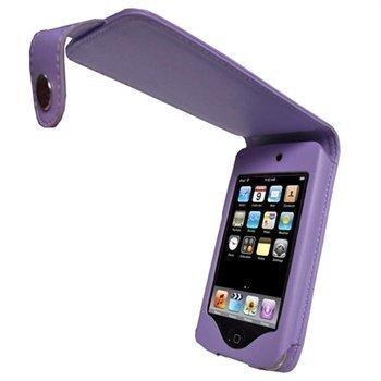 iPod Touch 2G Touch 3G iGadgitz Nahkainen Läppäkotelo Violetti