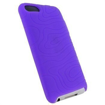iPod Touch 2G Touch 3G iGadgitz Silicone Case Purple