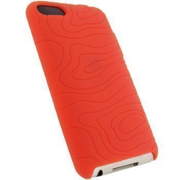 iPod Touch 2G Touch 3G iGadgitz Silikonikotelo Punainen