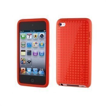 iPod Touch 4G Speck PixelSkin HD Suojakotelo Vaaleanpunainen