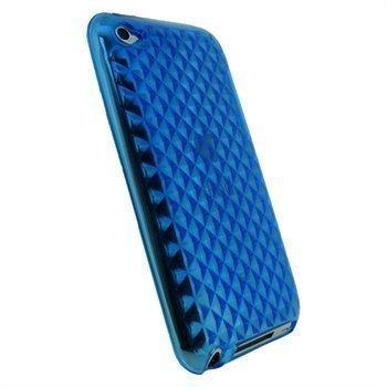 iPod Touch 4G iGadgitz Diamond TPU-Suojakuori Sininen
