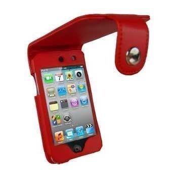 iPod Touch 4G iGadgitz Nahkakotelo Punainen