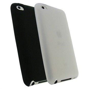 iPod Touch 4G iGadgitz Silikonikotelosarja Musta / Kirkas