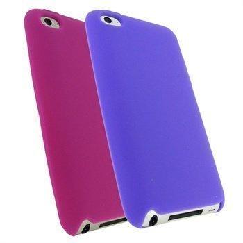 iPod Touch 4G iGadgitz Silikonikotelosarja Pinkki / Violetti