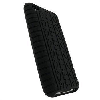 iPod Touch 4G iGadgitz Tyre Tread Design Silicone Case Black