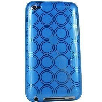iPod Touch 4G iGadgitz Ympyräkuvioitu TPU-Suojakotelo Sininen