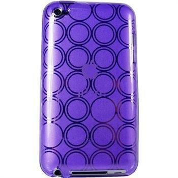 iPod Touch 4G iGadgitz Ympyräkuvioitu TPU-Suojakotelo Violetti