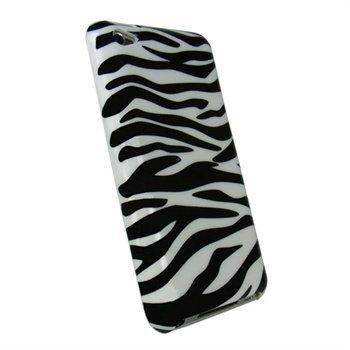 iPod Touch 4G iGadgitz Zebra Hard Cover Black / White