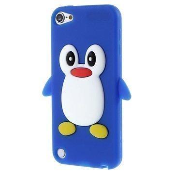 iPod Touch 5G 3D Penguin Silikoninen Suojakuori Tummansininen