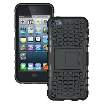 iPod Touch 5G Anti-Slip Hybridikotelo Musta