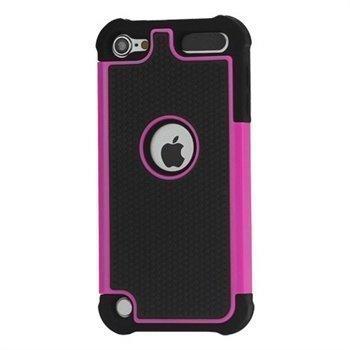 iPod Touch 5G Hybrid Suojakotelo Musta / Kuuma Pinkki