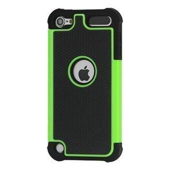 iPod Touch 5G Hybrid Suojakotelo Musta / Vihreä