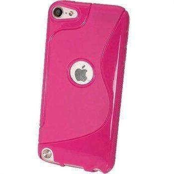 iPod Touch 5G iGadgitz Kaksivärinen TPU-Suojakotelo Tumma Pinkki
